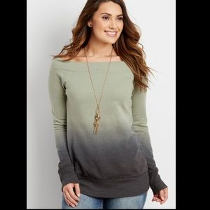 Maurices ombré boatneck sweater